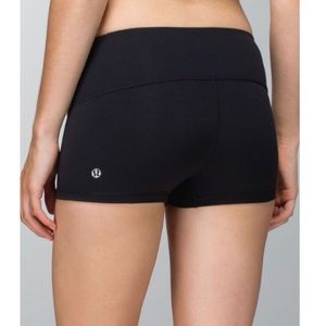 Lululemon Boogie Black Luxtreme Tight Biker Shorts